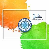 Aquarel Indiase vlag achtergrond vector