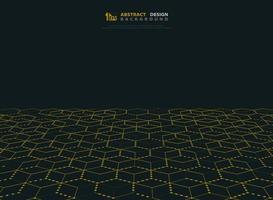 Abstract gouden punt hexagon technologiepatroon