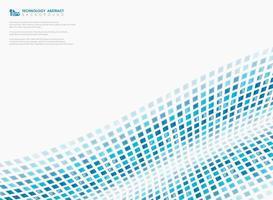 Moderne gradiënt blauwe vierkante tech technologieachtergrond