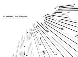Abstract zwart-wit terugwijkend rechthoekenpatroon