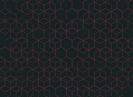 Abstracte rode stip omtrek zeshoek patroon