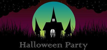 Halloween-partij lichte abstracte achtergrond vector