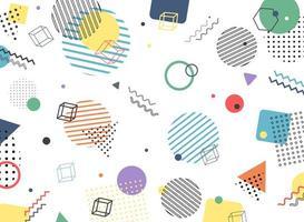 Abstract geometrisch kleurrijk Memphis-patroon