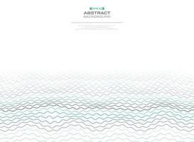 Abstract minimaal gestippeld golvend blauw lijnpatroon vector