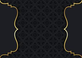 damastpatroon en gouden lijsten