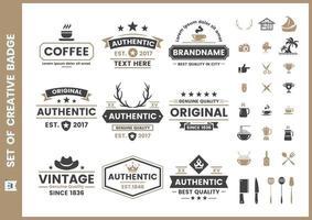 Set vintage retro badges en elementen vector