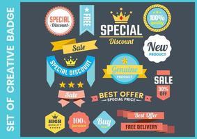 Set van retro promotionele verkoop banners vector