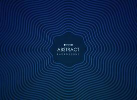 Abstract golvend blauw stralend lijnen futuristisch patroon vector