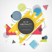 Abstract kleurrijk modern geometrisch en lijnpatroon
