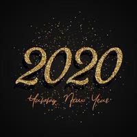 Glitter 2020 Gelukkig Nieuwjaar-ontwerp vector