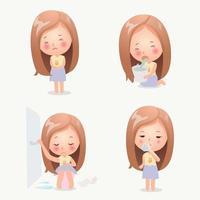 Illustratie van symptomen van maagvirus