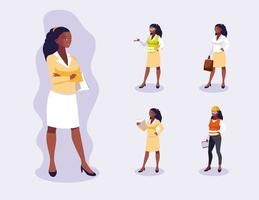 Avatars set van professionele werknemers ontwerp
