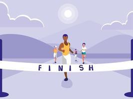 mannelijke atletiek race avatar karakter