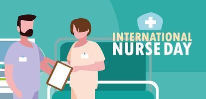 internationale verpleegstersdag met een groep professionals