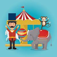 apen en olifant circus show