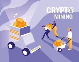teamwerkers crypto mining bitcoins vector
