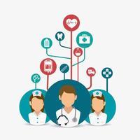 Medische gezondheidszorgpictogrammen en avatars vector