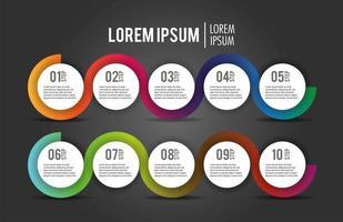 zakelijke infographic proces plan rapport