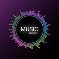 Muziek equalizer achtergrond vector