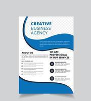 Blue Wave Business Brochure sjabloon vector