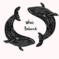 Zwarte Zee leven evenwicht vector