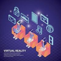 virtual reality isometrisch vector