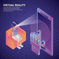 virtual reality isometrisch vector