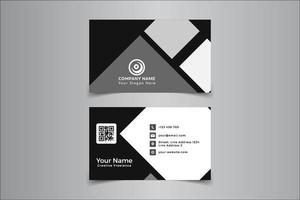 Visitekaartje zwart en wit