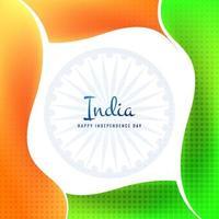 Indiase vlag Onafhankelijkheidsdag viering achtergrond vector