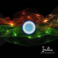 Indiase vlag concept achtergrond golf voor onafhankelijkheidsdag vector