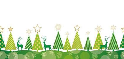 Kerst naadloze bos achtergrond