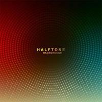 Circulaire Gradiënt kleurrijke halftone achtergrond