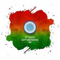 Aquarel Indiase vlag voor dag van de Indische Republiek vector
