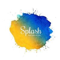 Splash aquarel vlek met veelkleurig ontwerp vector