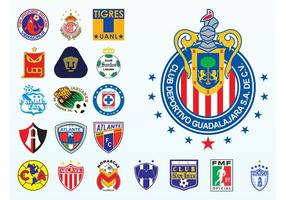 Mexicaanse Voetbal Logos