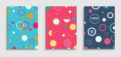 Set van circulaire stijl covers