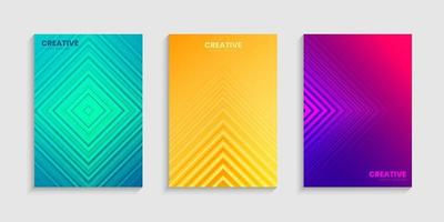 Gradient Minimal cover ontwerpsjabloon set