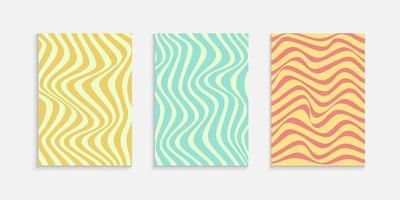 Minimale omslagontwerpsjabloon met golvende lijnen