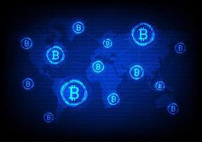 Bitcoin Wereldwijde communicatie vector