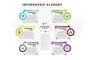 Platte infographic sjabloon voor bedrijven