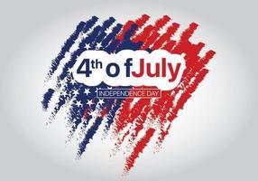 4 juli Onafhankelijkheidsdag met abstracte achtergrond vector