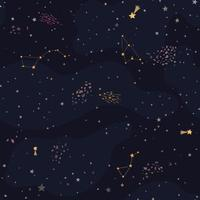 Ruimteachtergrond met glanzende sterren