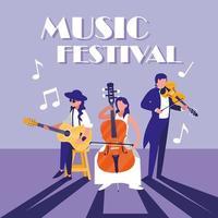orkest bespeelinstrument in concert
