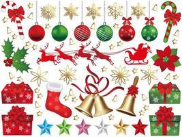Kerst elementen set geïsoleerd