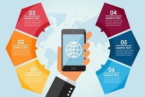 Mobiele cirkel infographic vector