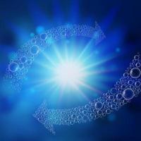 Bubble pijlen wervelen onder water vector