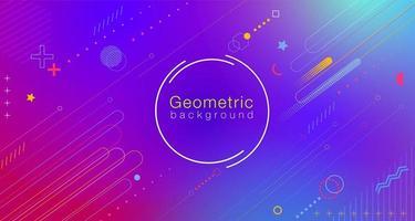 Kleurrijk abstract geometrisch gradiënt vector