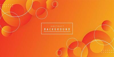 Oranjegele moderne gradiëntachtergrond vector