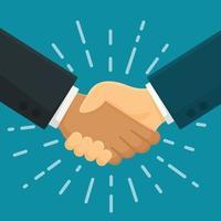 Handdruk overeenkomst vector