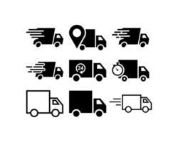 Vrachtwagen icon set vector